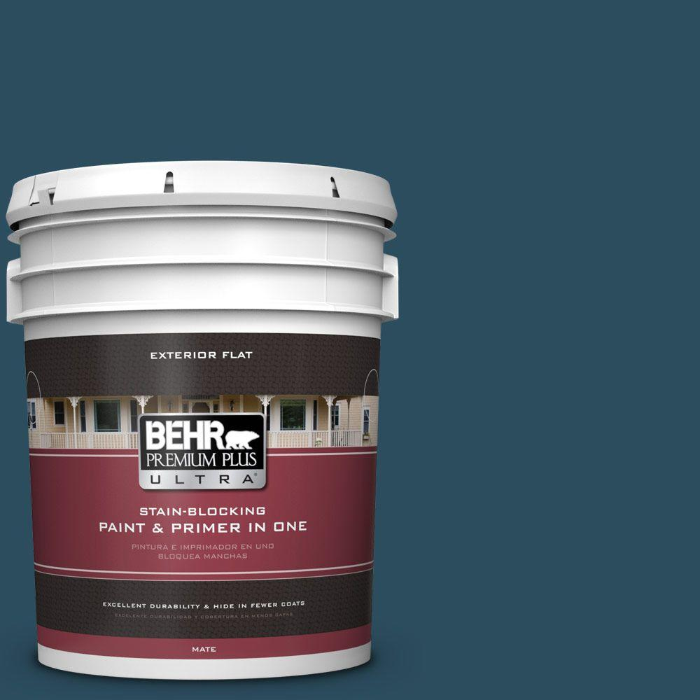 5-gal. #540F-7 Velvet Evening Flat Exterior Paint