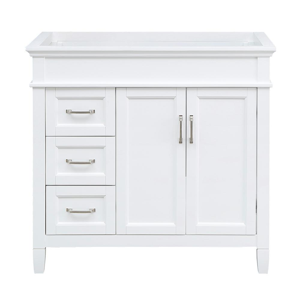 Home Decorators Collection Ashburn 36 in. W x 21.75 in. D Vanity Cabinet in White