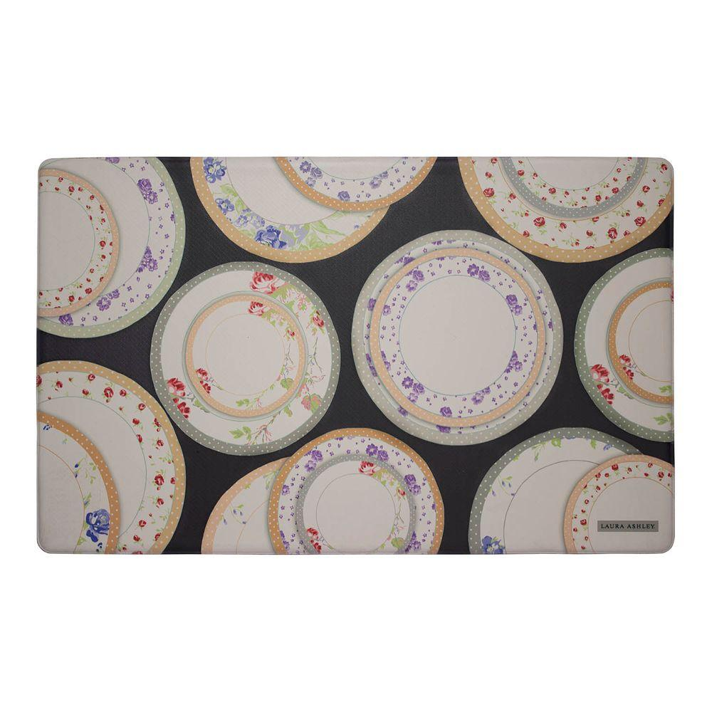 Tea Plates Black 20 in. x 32 in. Memory Foam Kitchen