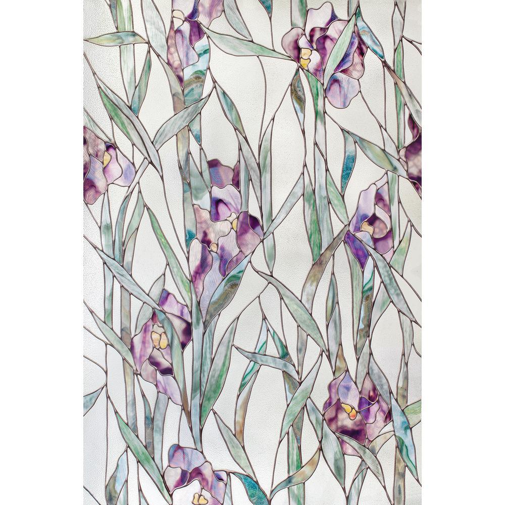 24 in. x 36 in. Iris Decorative Window Film