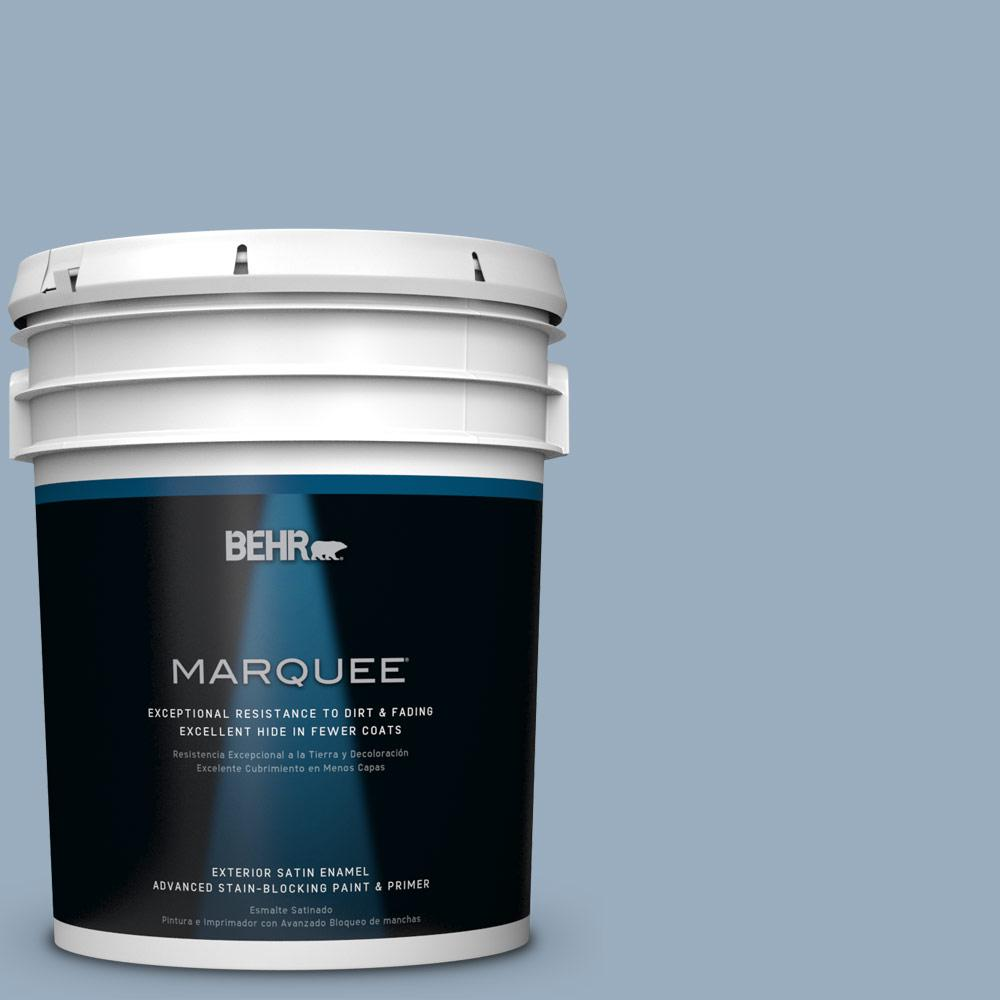BEHR MARQUEE 5-gal. #S510-3 Ombre Blue Satin Enamel Exterior Paint