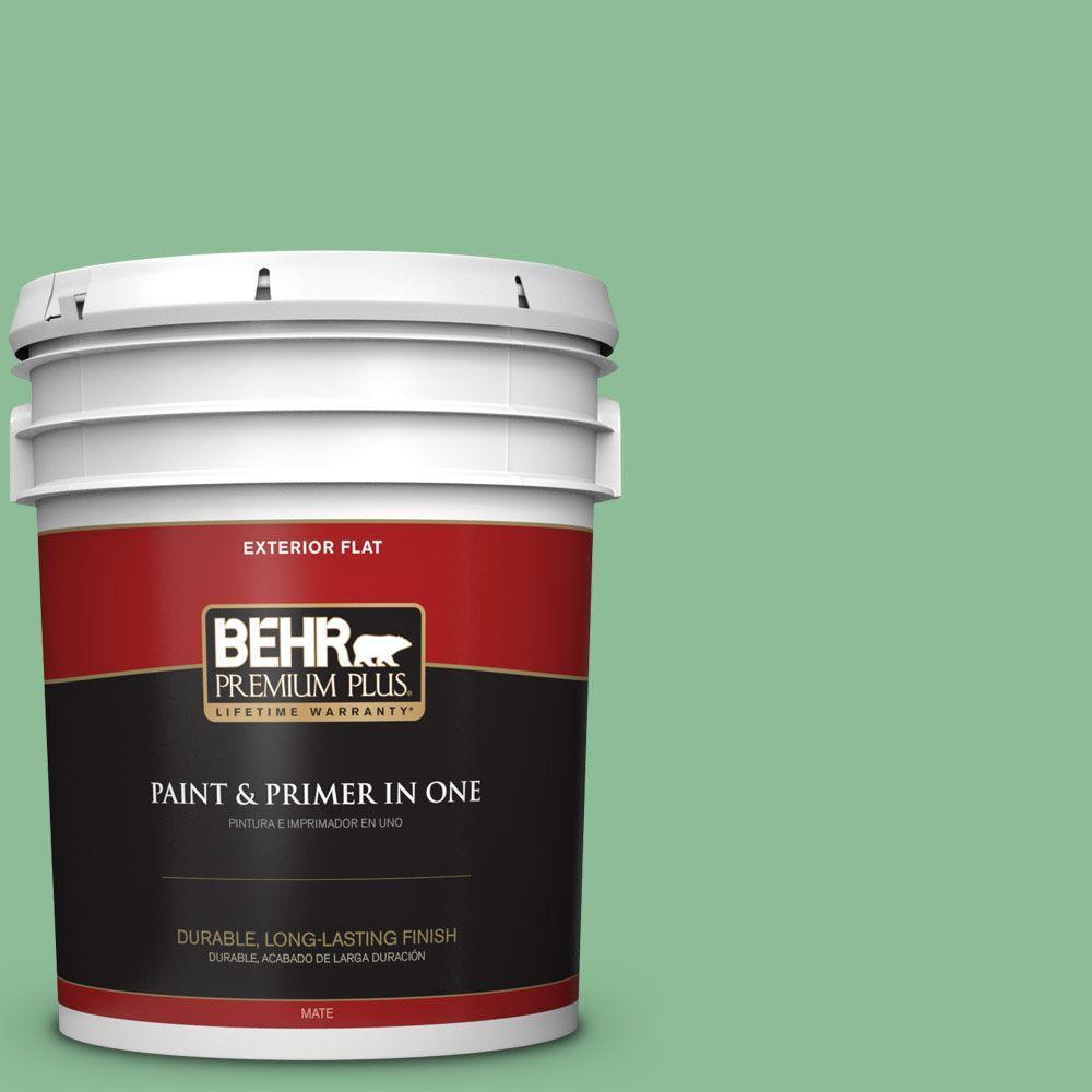 BEHR Premium Plus 5-gal. #M410-4 Garden Swing Flat Exterior Paint