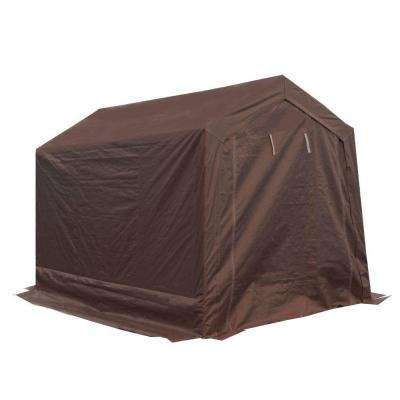 7 ft. W x 12 ft. D Brown Garage Fitted Cover