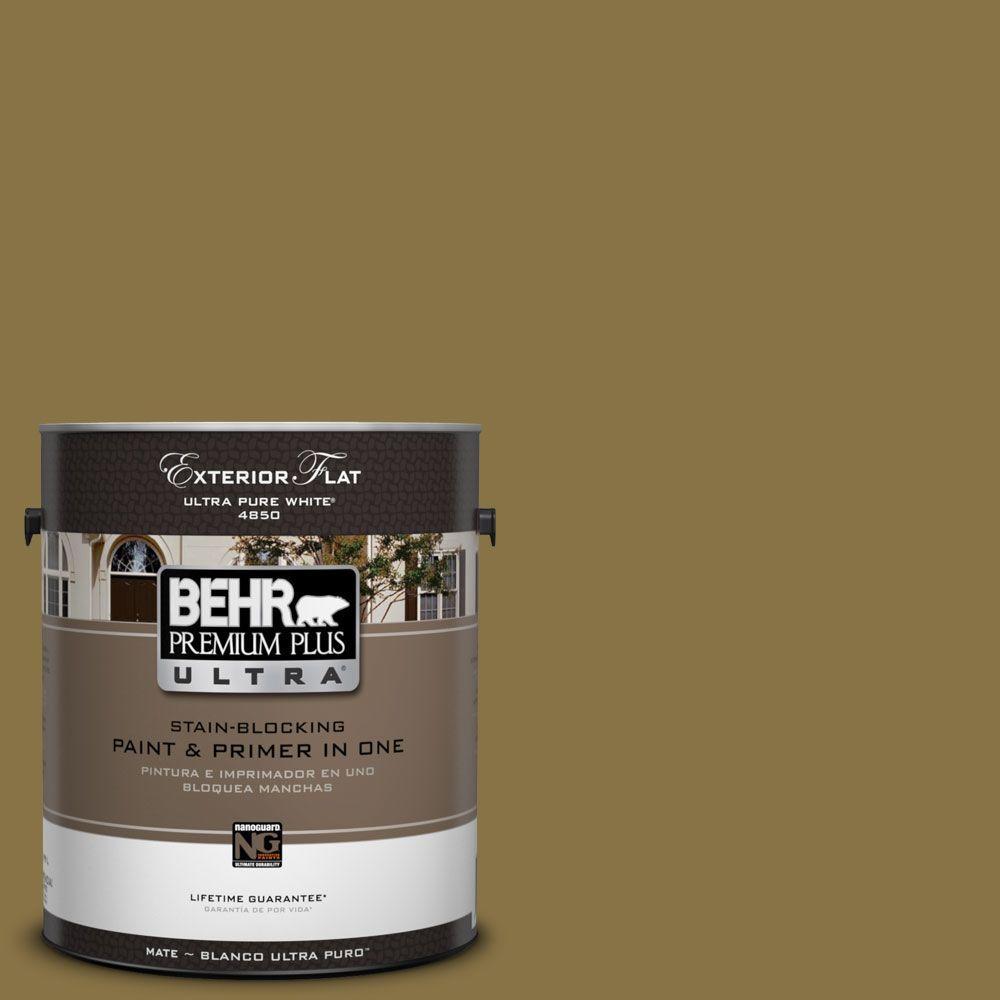 BEHR Premium Plus Ultra 1-Gal. #UL180-2 Eden Prairie Flat Exterior Paint