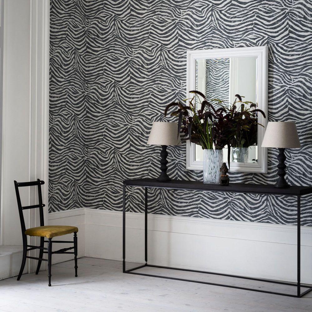 Graham & Brown Black Zebra Wallpaper