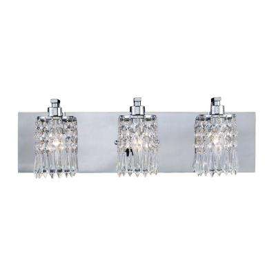 Optix 3-Light Polished Chrome Wall Vanity Light