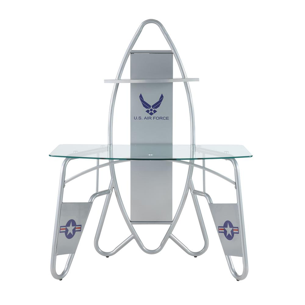 Aeronautic Silver Desk
