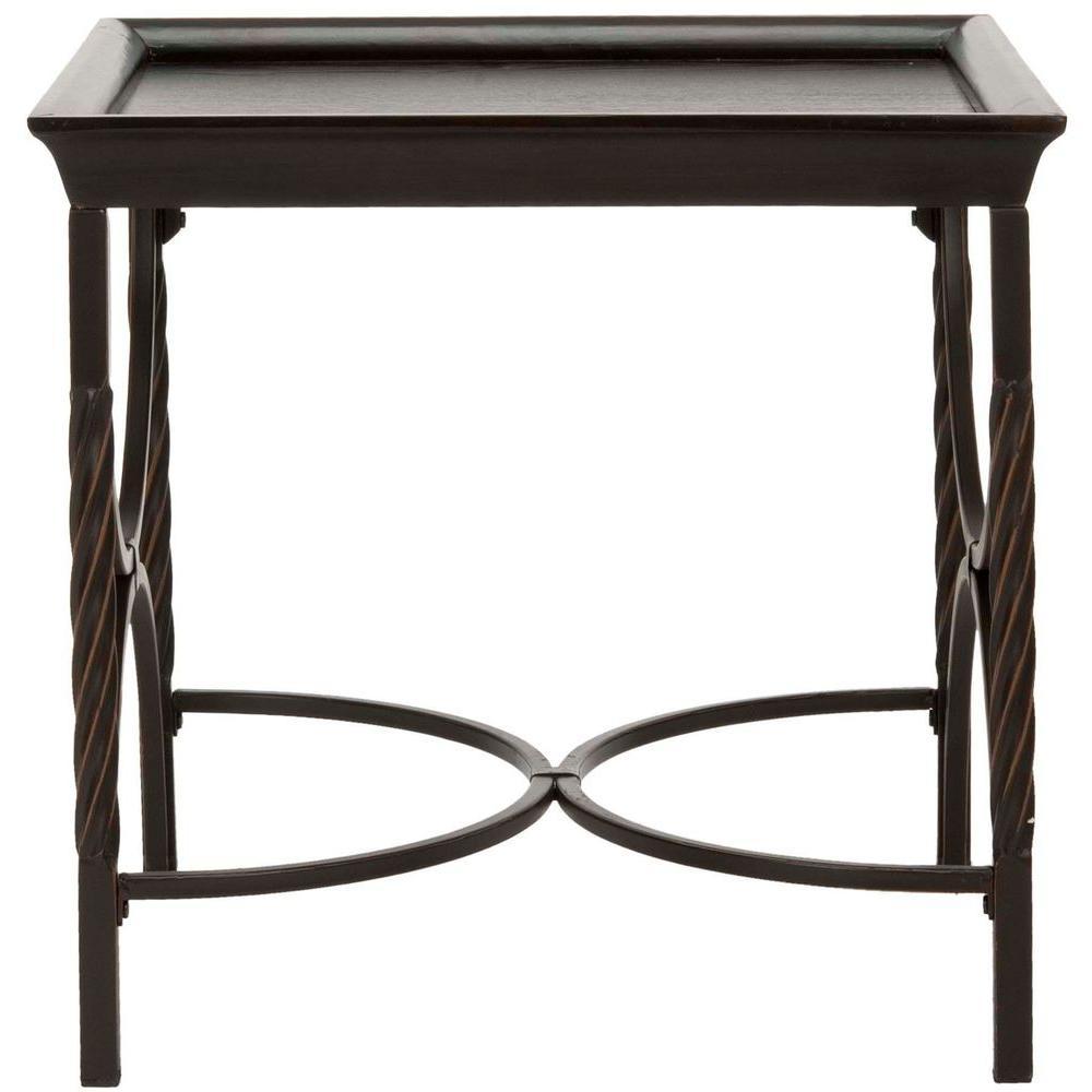 Safavieh Owen Dark Walnut End Table