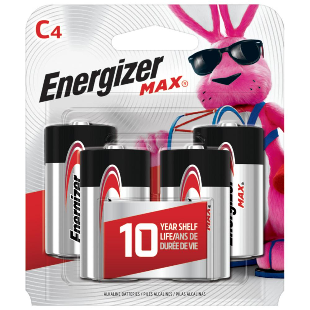 Energizer MAX Alkaline C Battery (4-Pack)