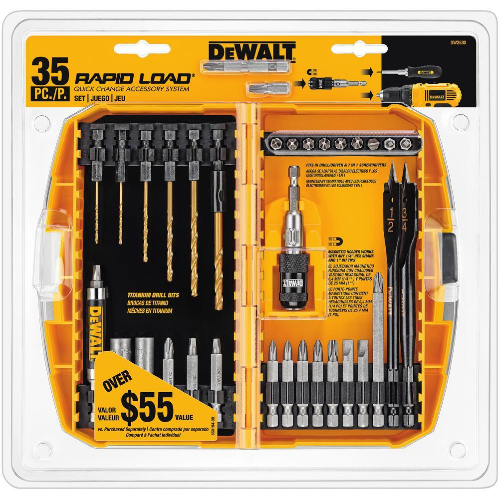 Dewalt Magnetic Compact Rapid Load Set 35 Piece Dw2530
