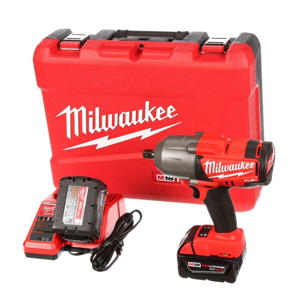 Milwaukee M18 FUEL 18-Volt Lithium-Ion Brushless 1/2 in. Cordless High Torque Impact Wrench with Pin Detent Kit