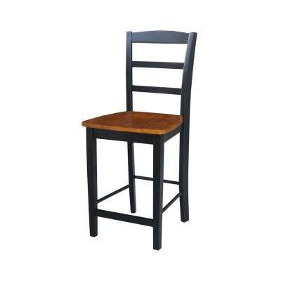 Madrid 24 in. Black and Cherry Bar Stool