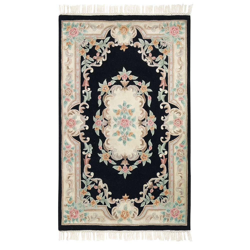 Imperial Black 3 ft. x 5 ft. Area Rug