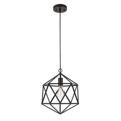 76.75 in. Metal Black Cage Pendant
