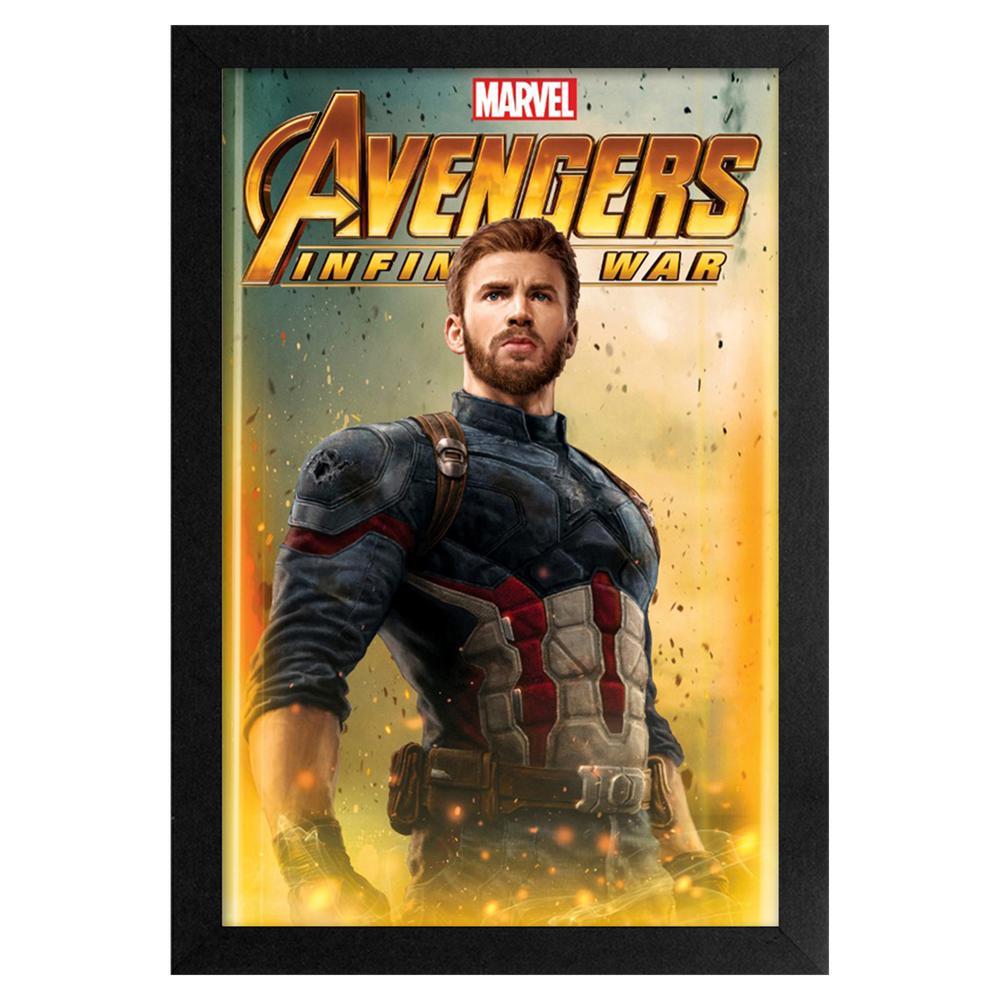 Avengers- Infinity War - Captain America 11x17 Framed Print