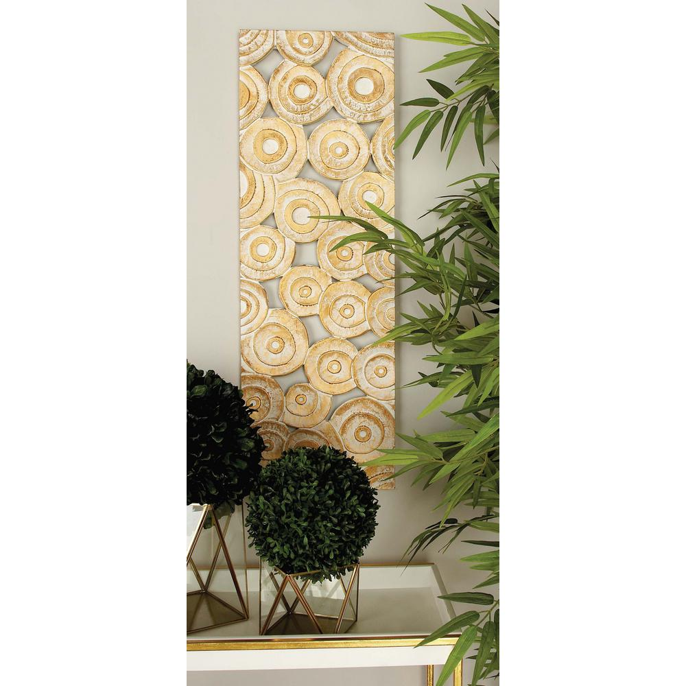36 in. x 12 in. Rustic Decorative Wooden Wall Panel With Brown ...