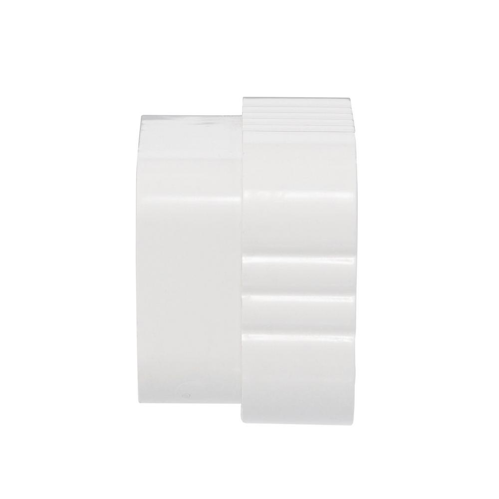 3 In X 4 In Vinyl White Downspout Connector M0723 The Home Depot