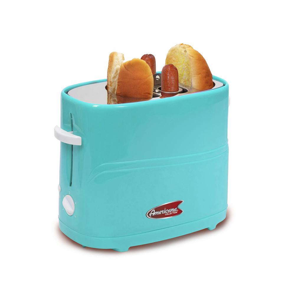 2-Slice Blue Hot Dog Toaster