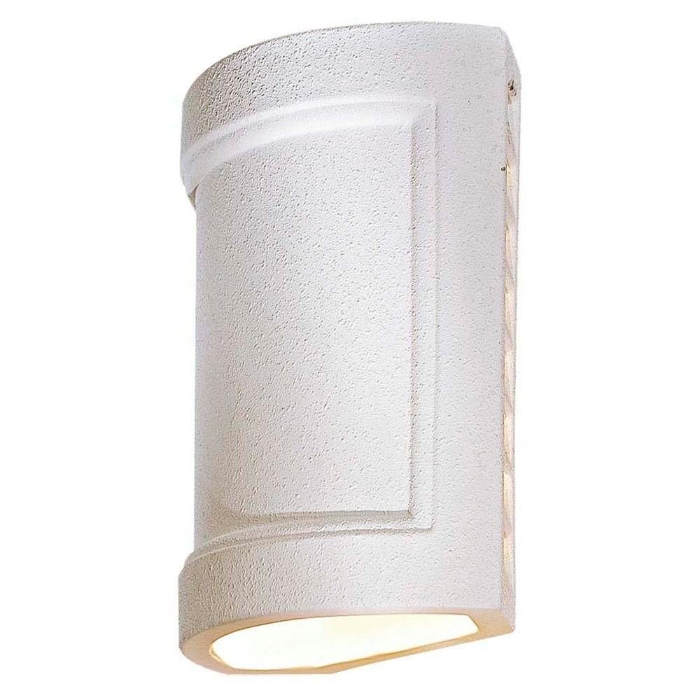 the great outdoors by Minka Lavery Ceramic 1-Light White Outdoor ...