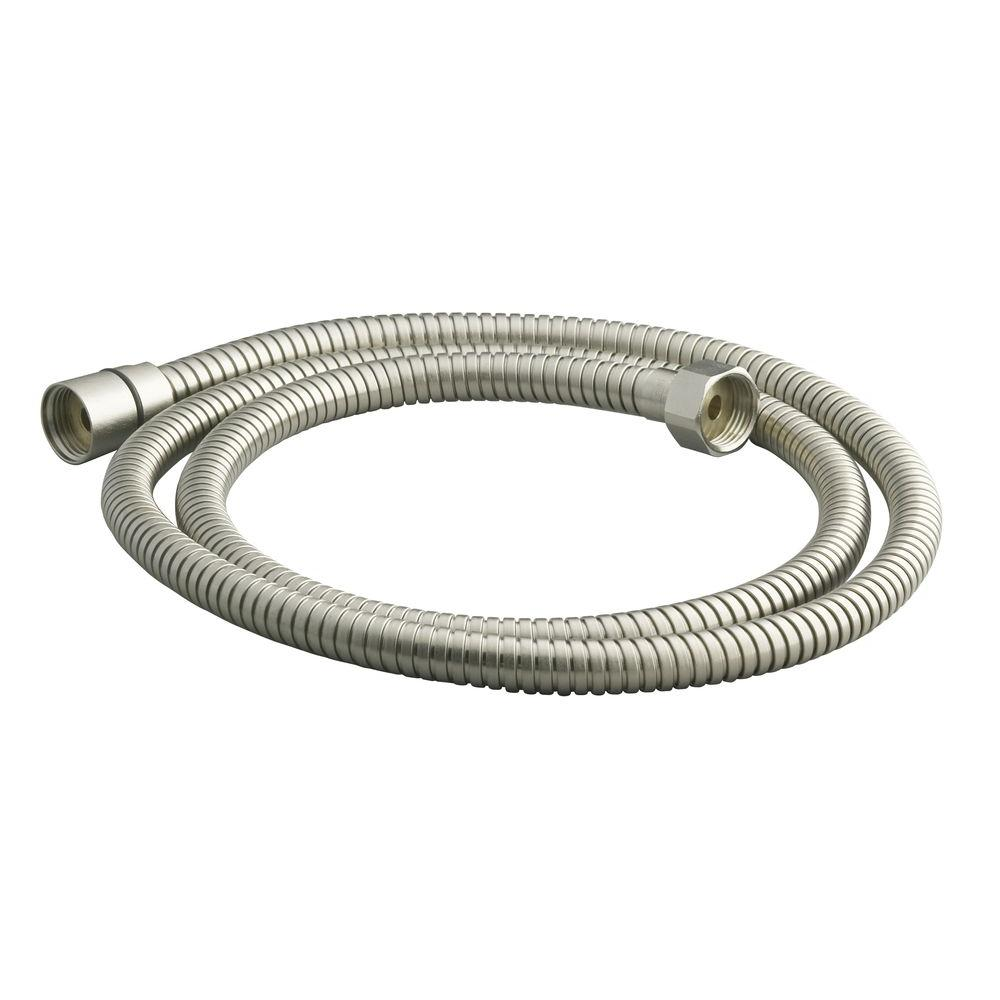 Metal Shower Hose 60 in Vibrant Polished Brass Flexible Accessories Swivel Base