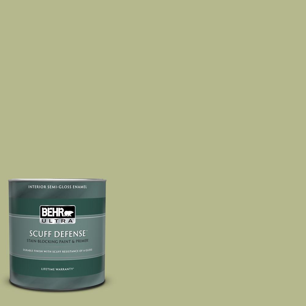 Reviews For Behr Ultra 1 Qt Home Decorators Collection Hdc Sp14 1 Secret Glade Extra Durable Semi Gloss Enamel Interior Paint Primer 375404 The Home Depot