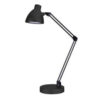 Architect 25 in. Black LED Energy-Efficient Desk Lamp