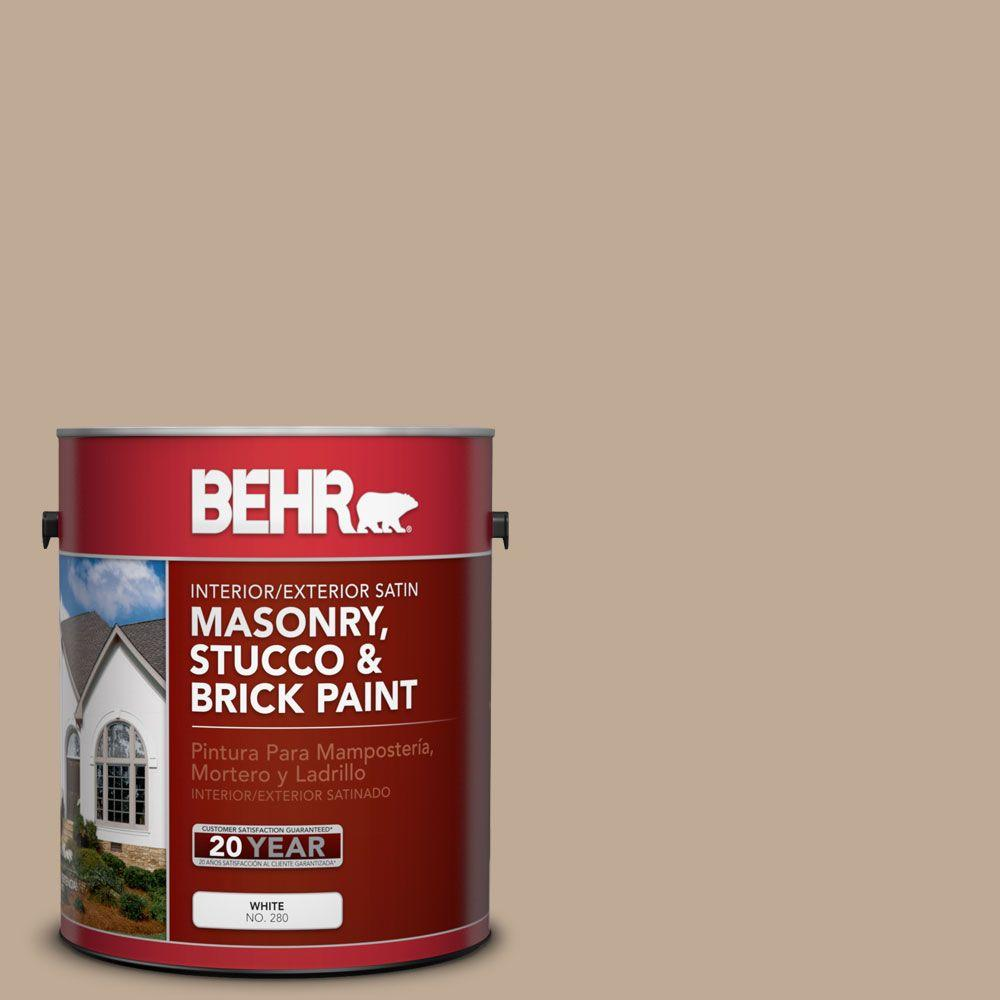 1 gal. #MS-23 Sequoia Satin Interior/Exterior Masonry, Stucco and Brick Paint