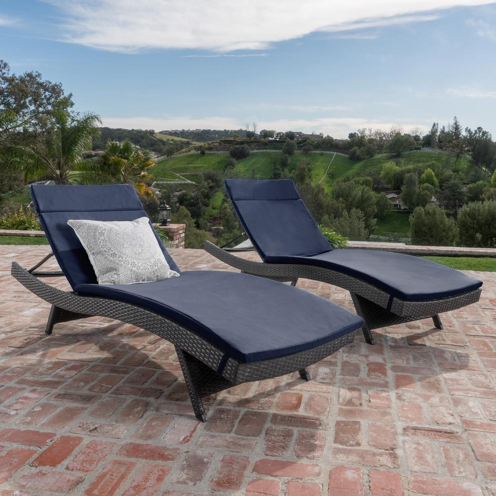 Pleasing Outdoor Chaise Lounges Patio Chairs The Home Depot Interior Design Ideas Tzicisoteloinfo