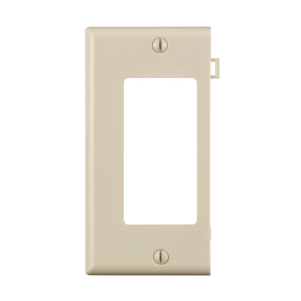 Leviton Sectional 1-Gang End Decora Nylon Wall Plate, Light Almond