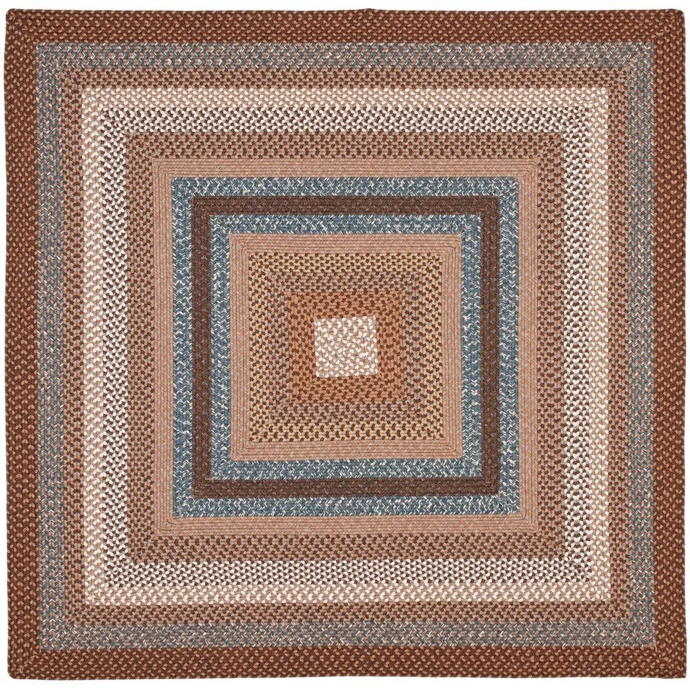 Safavieh Braided Brown Multi 8 Ft X 8 Ft Square Area Rug