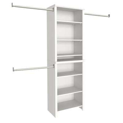 Impressions 14.58 in. D x 25.12 in. W x 82.46 in. H White Standard Wood Closet System Kit