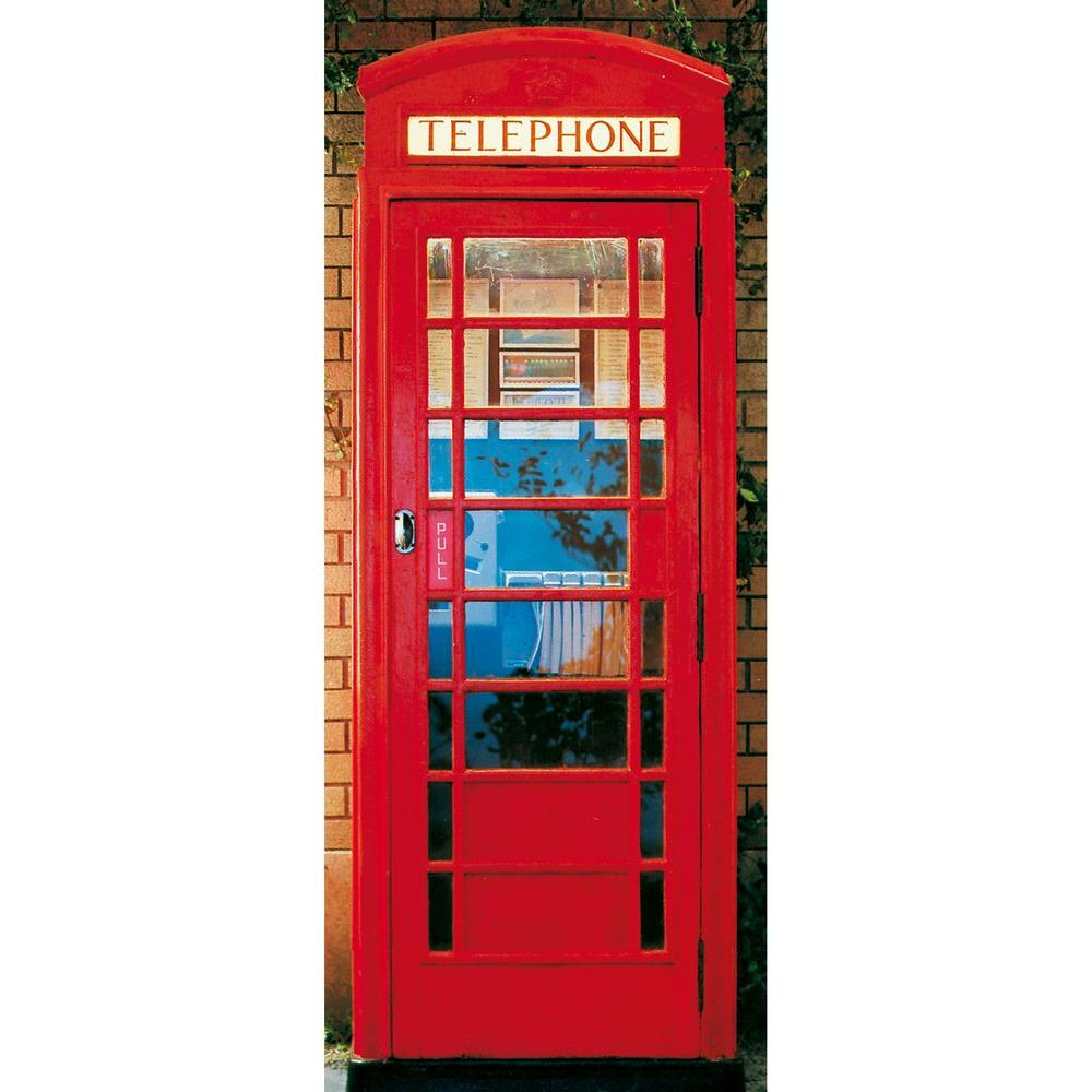 Ideal Decor 79 in. x 34 in. Telephone Box Wall Mural