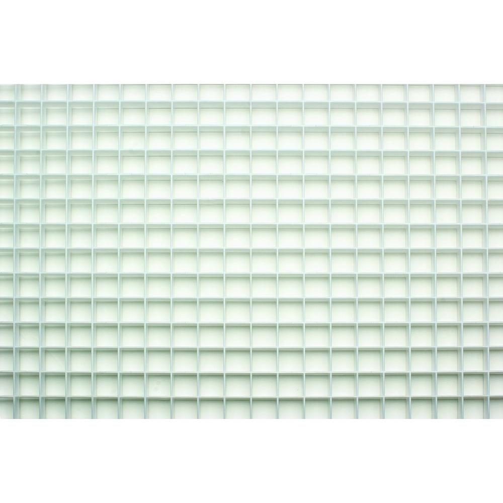 23.75 in. x 47.75 in. White Egg Crate Styrene Lighting Panel (5-Pack ...