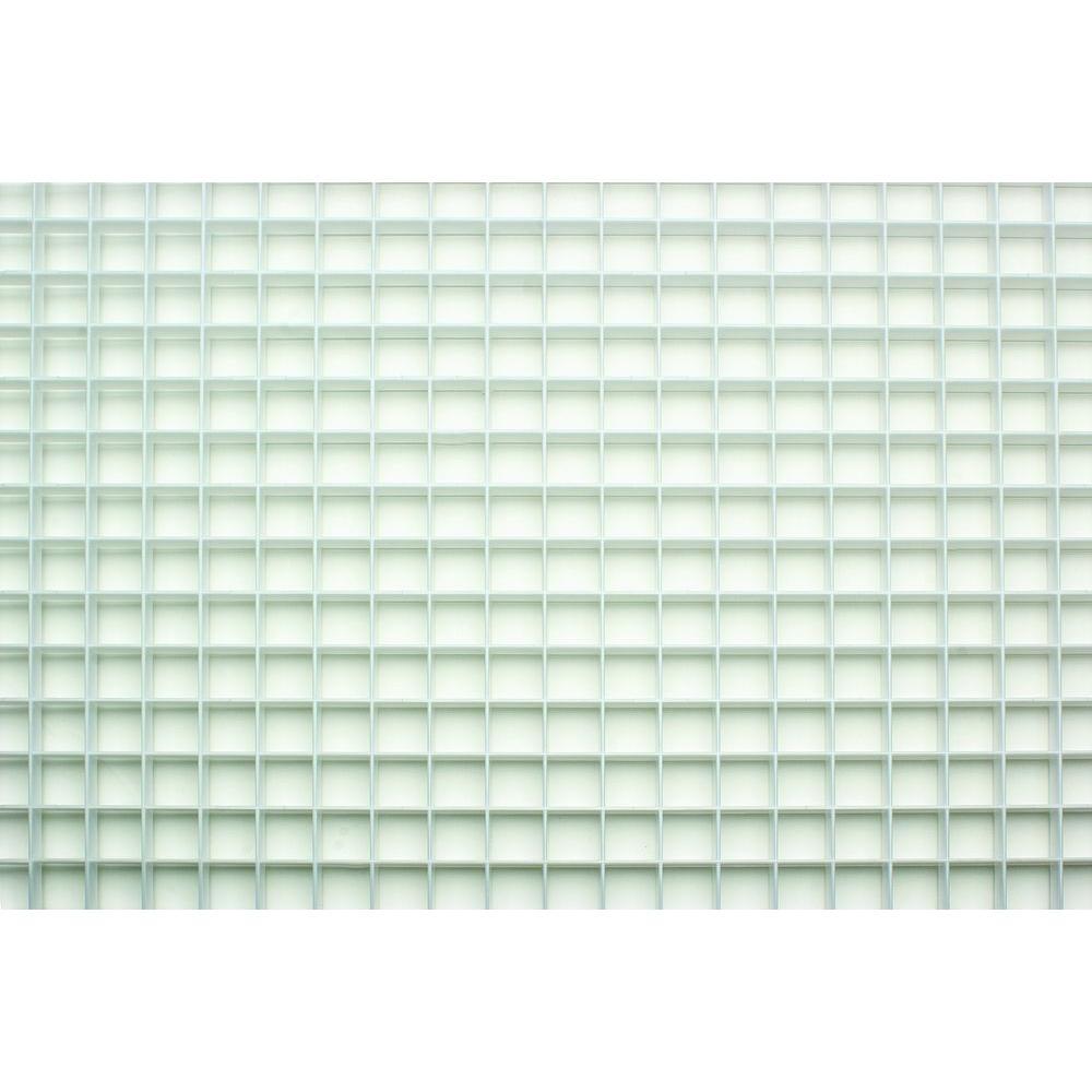 23.75 in. x 47.75 in. White Egg Crate Styrene Lighting Panel (5-Pack)