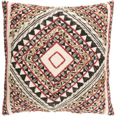 Wadham Red Graphic Polyester 20 in. x 20 in. Throw Pillow