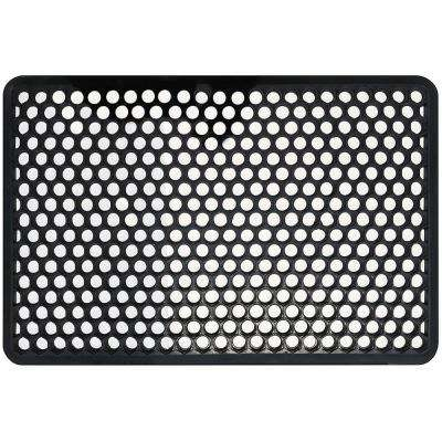 22 in. x 34 in. Indoor/Outdoor Recycled Black Rubber Floor Mat
