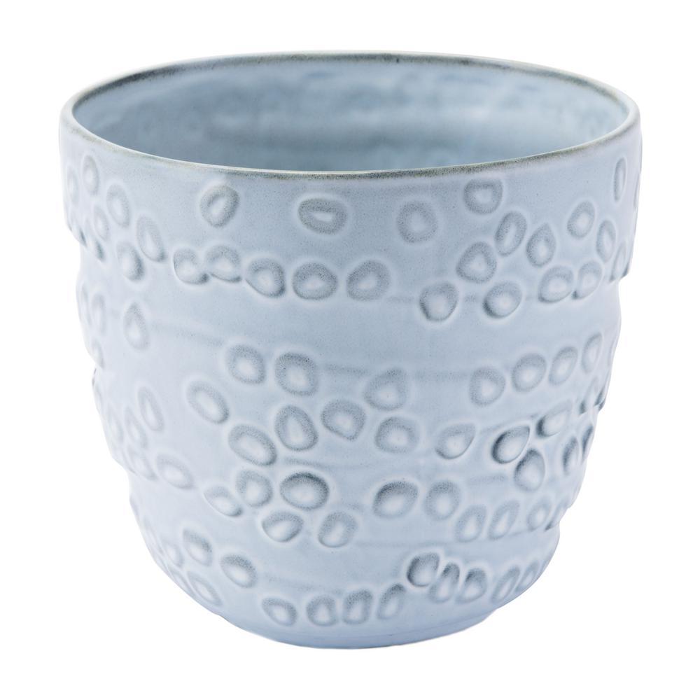 8.8 in. W x 7.9 in. H Off White Ceramic Planter