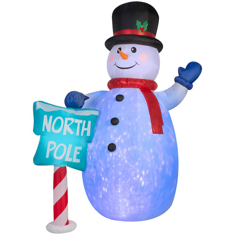 8cb9941257a6e National Tree Company 12 ft. Inflatable Projection Snowman-GE9-39410 ...