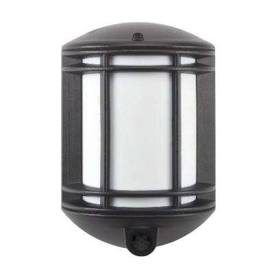 Cambridge Black Outdoor Motion-Sensing Integrated LED Wall Mount Sconce