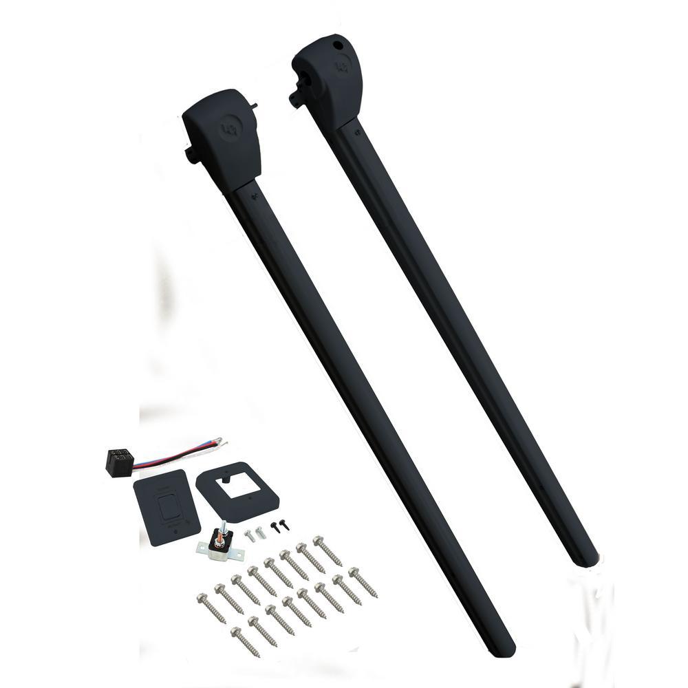 Lippert Components Solera Standard Power Hardware Kit Flat Speaker Head in Black