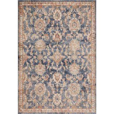 Manor Denim Chester 3 ft. x 5 ft. Traditional Medallion Area Rug