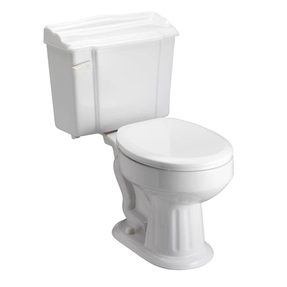 Pegasus Victoria 2-Piece 1.6 GPF Round Toilet in White-DISCONTINUED