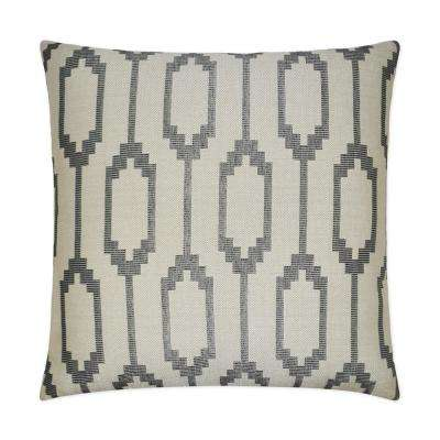 Santa Fe Grey Feather Down 24 in. x 24 in. Standard Decorative Throw Pillow