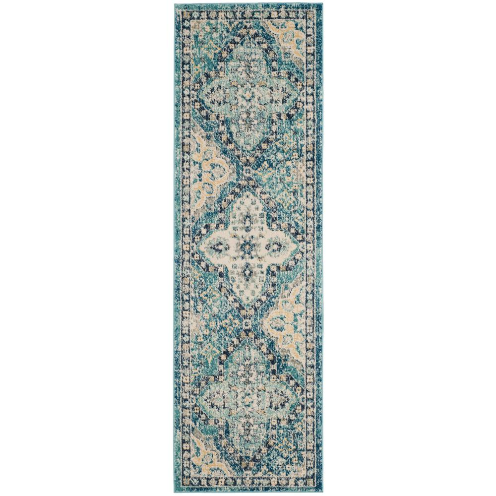 Safavieh Evoke Light Blue/Ivory 2 ft. x 11 ft. Runner Rug