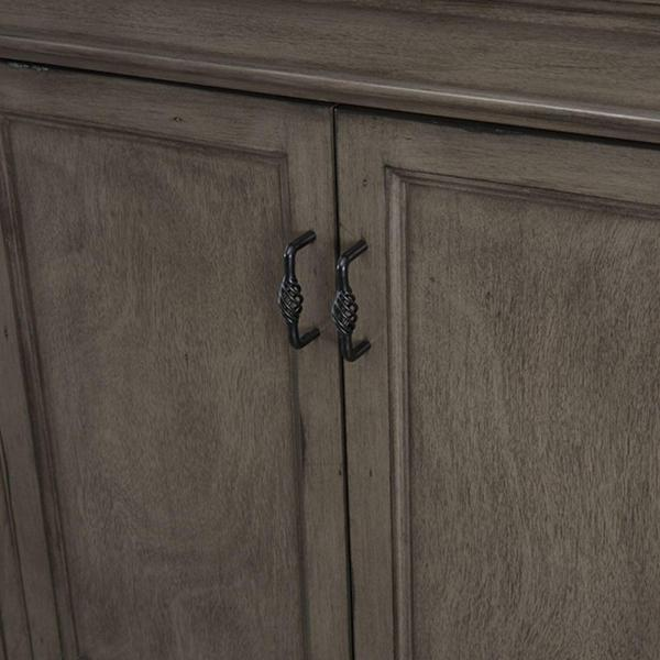 Home Decorators Collection - Naples 60 in. W Bath Vanity Cabinet Only in Distressed Grey for Double Bowl