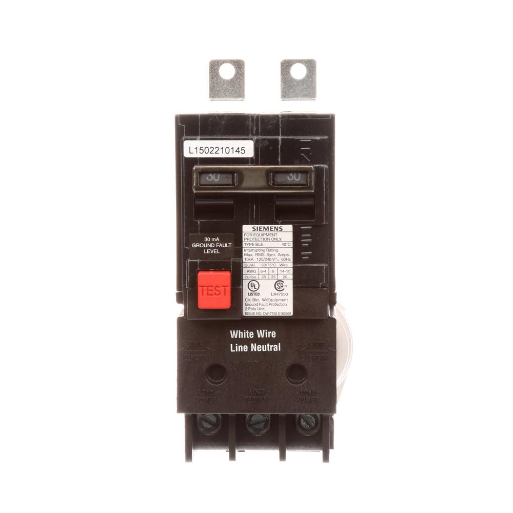 Ge Q Line 60 Amp 2 In Double Pole Circuit Breaker Thql2160 The 120 240 Volt Wiring Diagram 12 Lines 30 10 Ka Type Ble Gfi