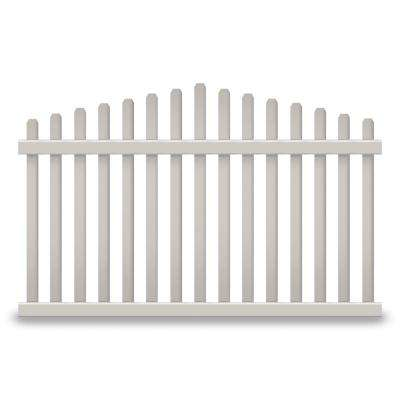 Sanibel 3 ft. H x 8 ft. W Tan Vinyl Picket Fence Panel