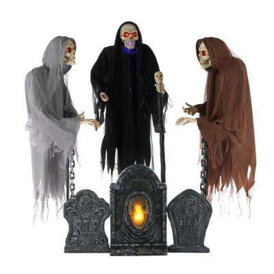 6 ft. Set of 3 Animated LED Floating Reapers