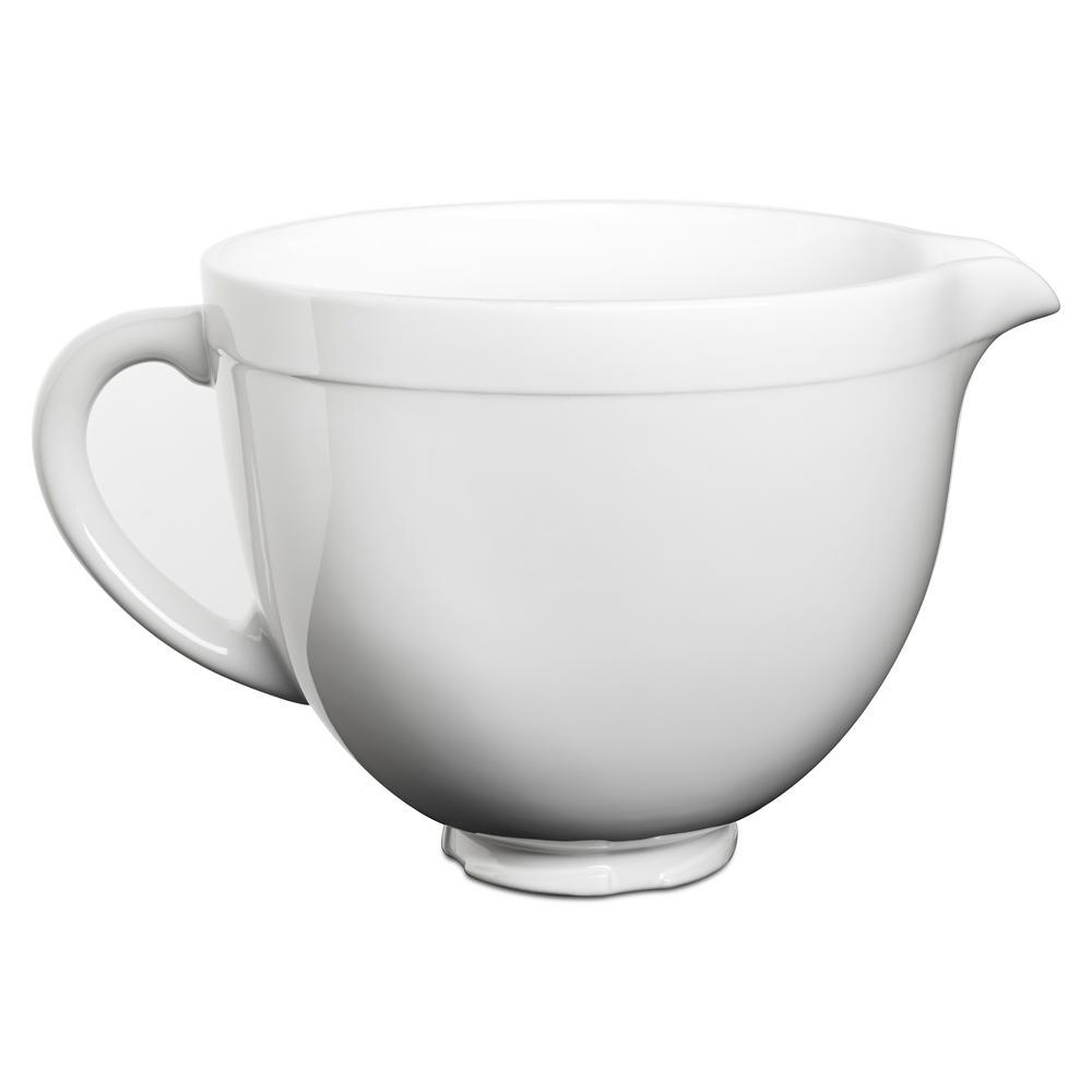 Kitchenaid 5 Qt Tilt Head Ceramic Bowl In White Chocolate