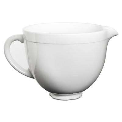 5 Qt. Tilt-Head Ceramic Bowl in White Chocolate